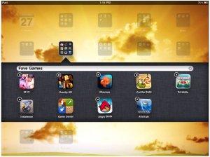 Folder in iPad