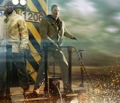 Denzel Washington and Chris Pine