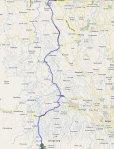 Peta Rute Serpong - Pamijahan (Lokasi Curug)