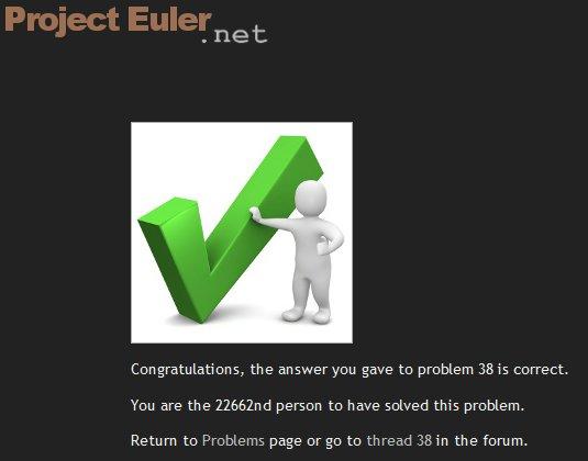 Euler 38 and Euler41