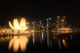 View from Double Helix Bridge Singapore