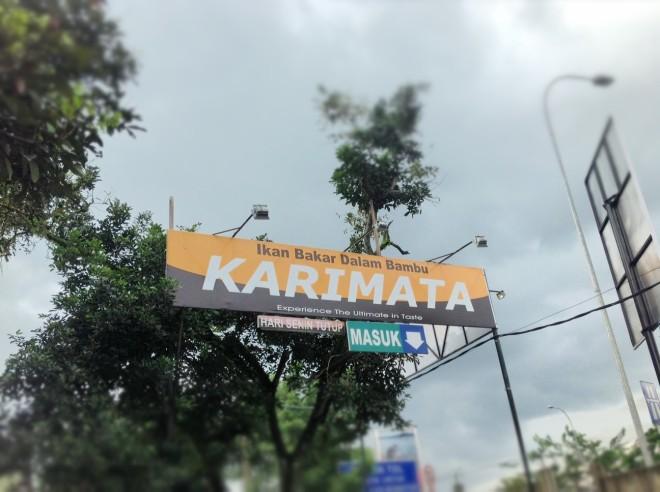 Ikan Bakar dalam Bambu - Karimata - exit tol Sentu City