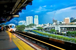 View from a train platform in Malaysia