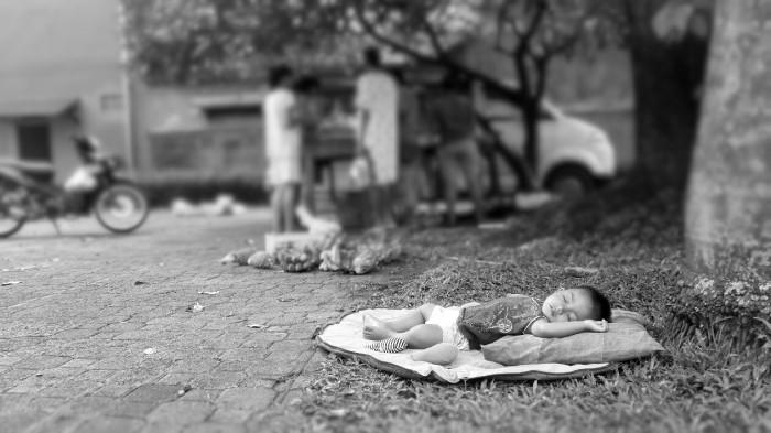 Sleeping Under a Tree