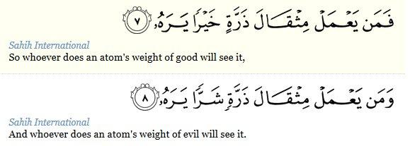 QS Al Zalzalah 7-8