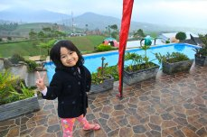 Aila and the pool