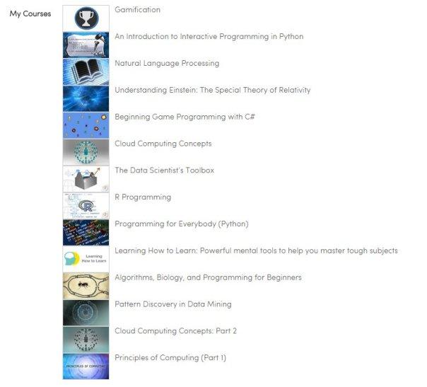 Courses I took