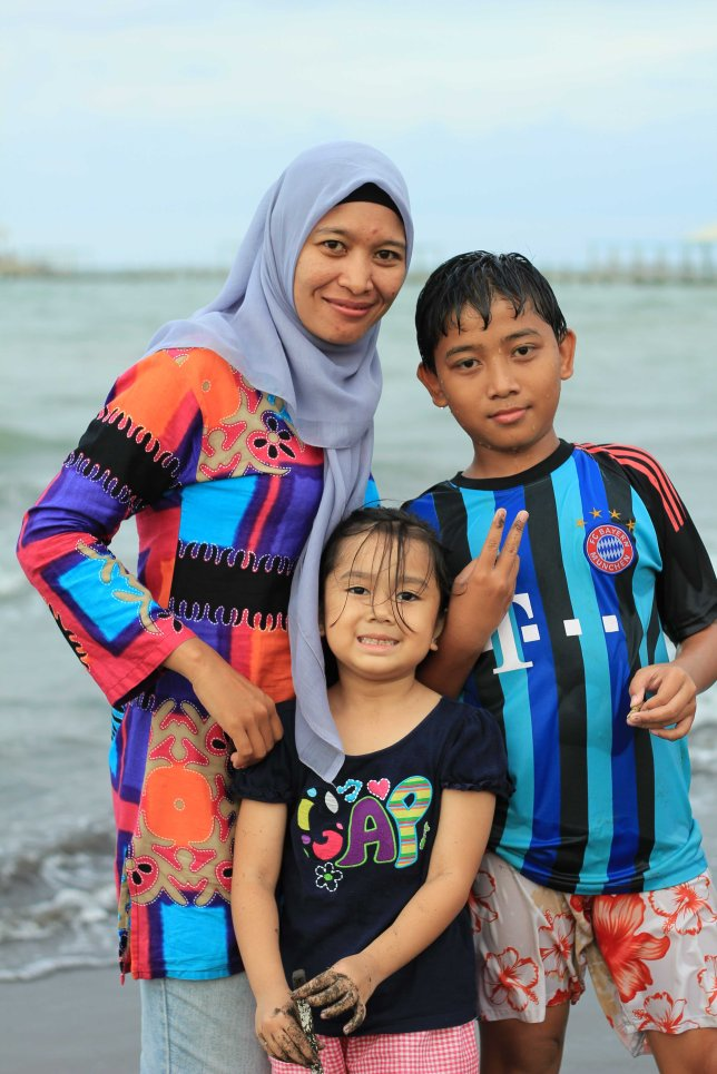 Daughter with Sister in Law and her son