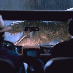 T-Rex melintas
