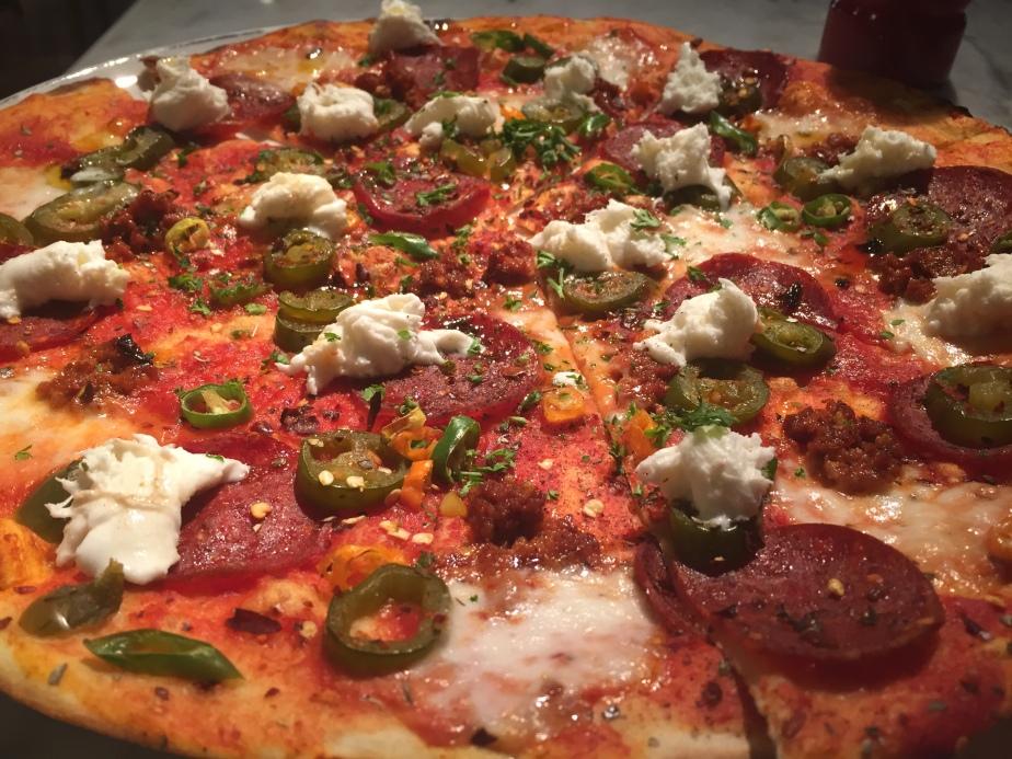 So hot pizza
