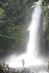 Rayyan in front of Waterfall