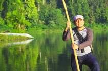 Ob bamboo raft