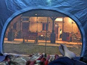 Look from tent