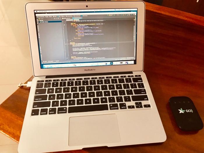 coding dengan XL GO Izi